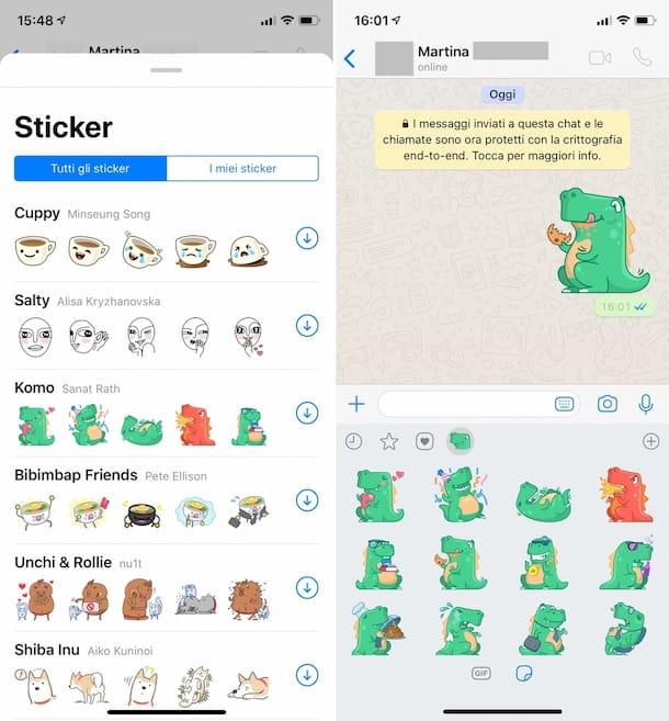 Come inviare sticker su WhatsApp