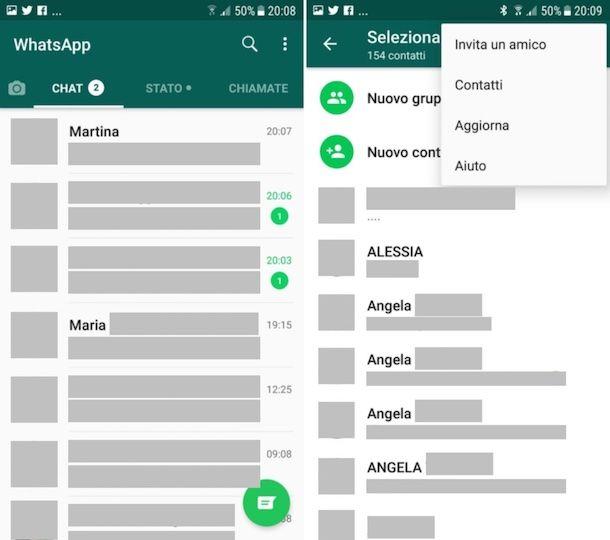 Come aggiornare contatti WhatsApp