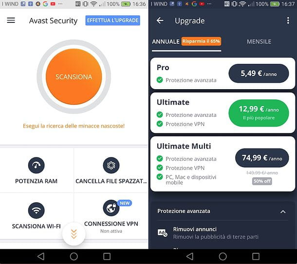 Come rinnovare Avast Free su Android