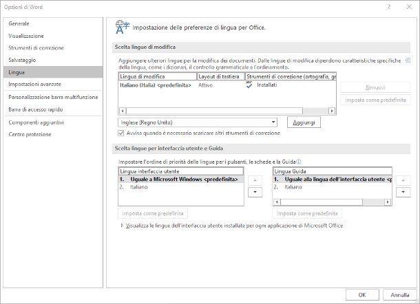 Come cambiare lingua in Microsoft Office 2016 - IMA