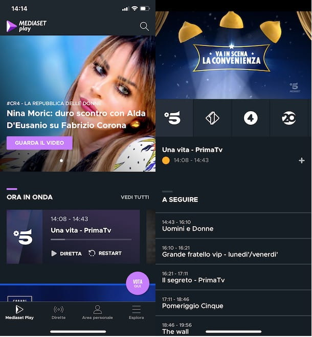 Mediaset Play app