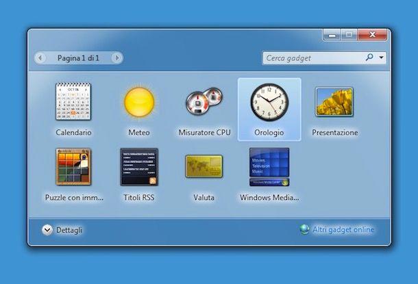 Come mettere l'orologio sul desktop