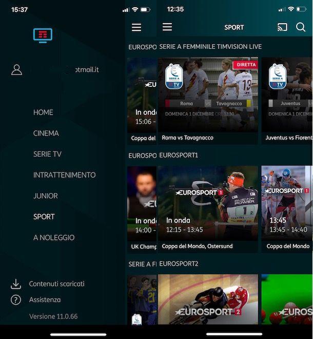 Come vedere le partite di calcio su TIMvision