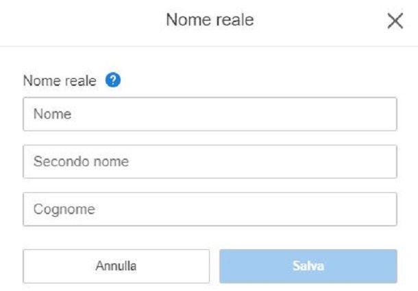 Nome reale PSN