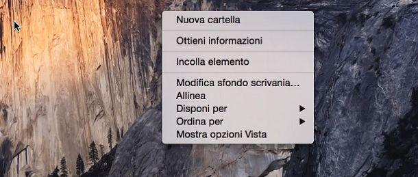 Mac Nuova Cartella