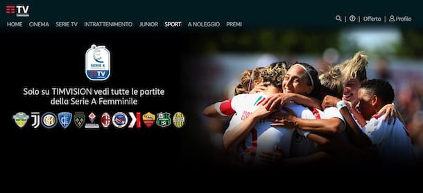 Come guardare le partite su TIMvision