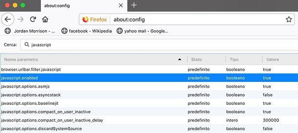 Come abilitare Javascript in Firefox