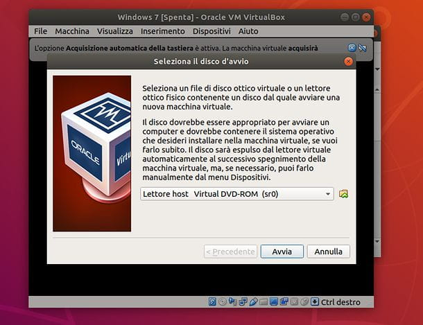 Creazione VM in VirtualBox
