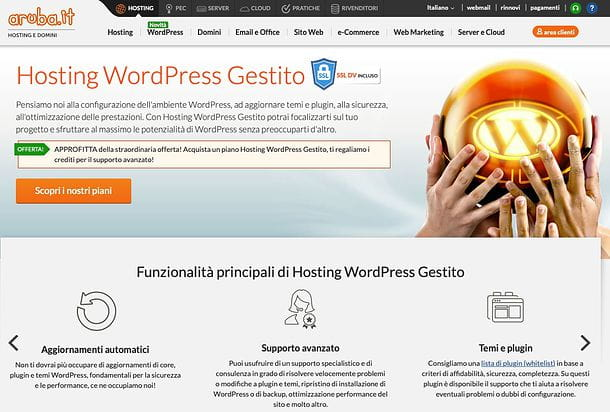 Hosting WordPress di Aruba