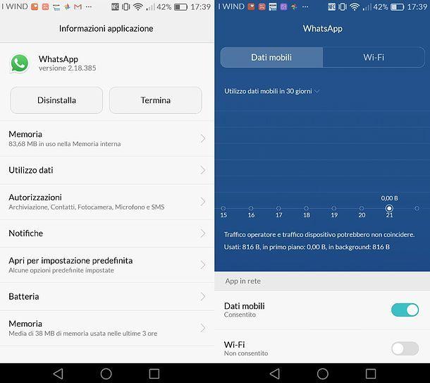 Come disattivare WhatsApp in Wi-Fi