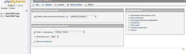 Database MySQL Aruba