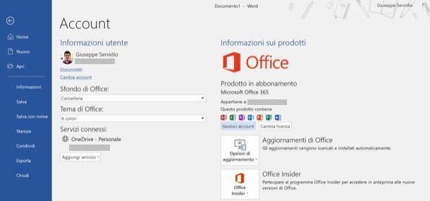 Office 365 attivato