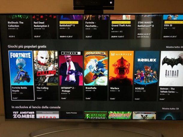 Scaricare giochi su Xbox One