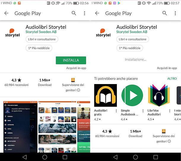 Installazione Storytel su Android