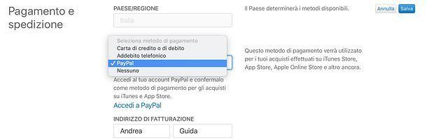 Come cambiare metodo di pagamento su sito Apple
