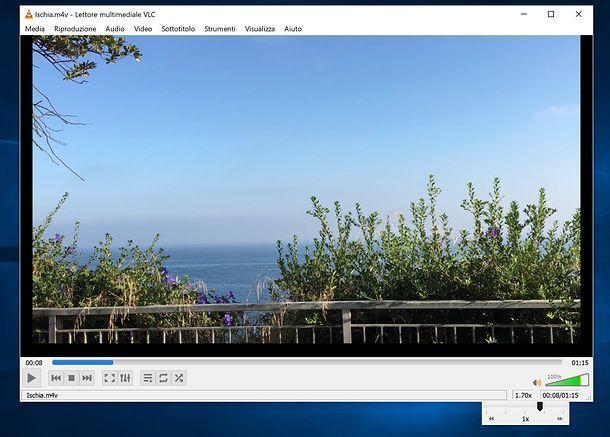 Come rallentare un video con VLC