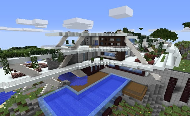 Lastra Di Legno Minecraft : Come costruire una casa moderna su minecraft salvatore aranzulla