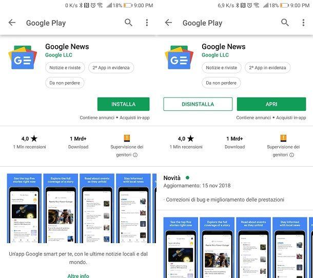 Google News applicazione