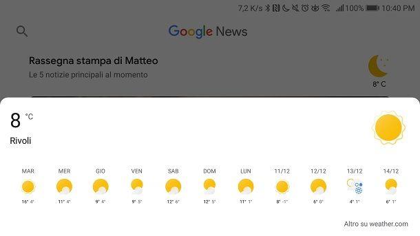 Google News meteo