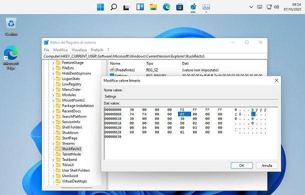 Barra in alto Windows 11