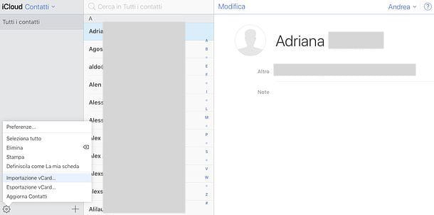 Come sincronizzare contatti Gmail con iCloud