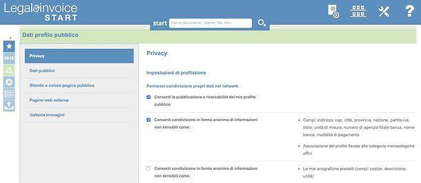 Profilo pubblico Legalinvoice