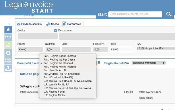Emissione fattura Legalinvoice