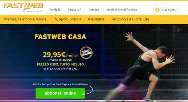 Offerte Fastweb rete fissa