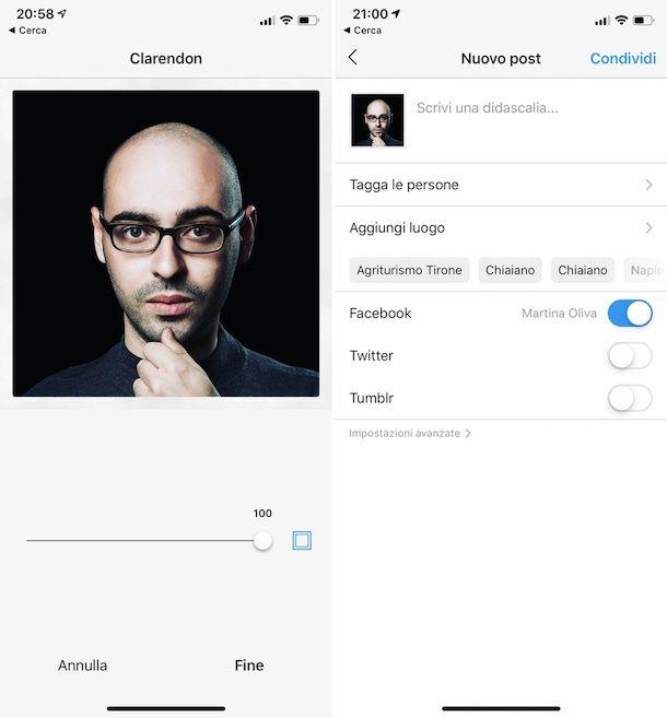 Come pubblicare foto su Instagram con cornice bianca