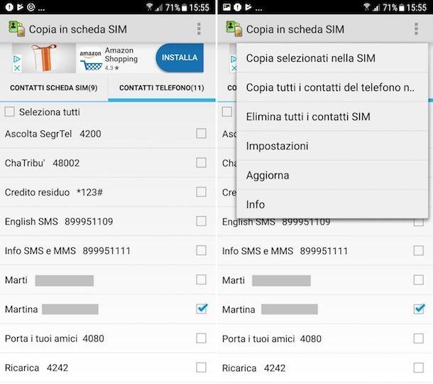 Come spostare i numeri dalla SIM al telefono Samsung