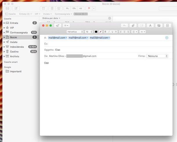 Come inviare email a più destinatari con Gmail