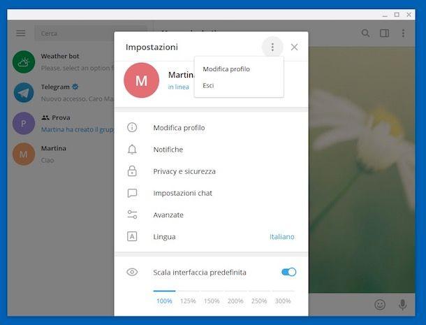 Come disattivare Telegram