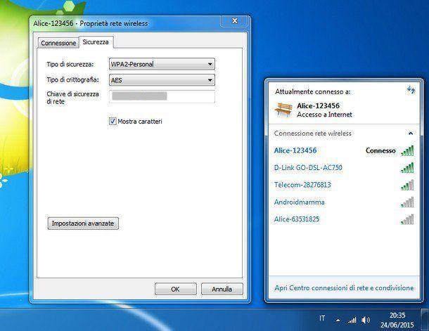 Come vedere la password del WiFi dal PC