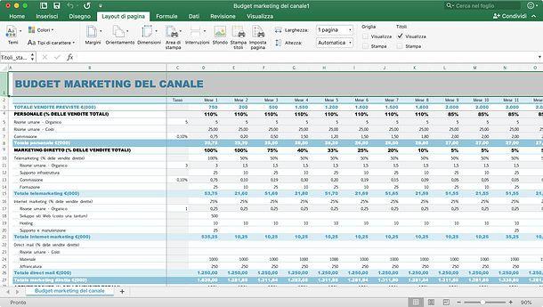 Come ripetere prima riga Excel