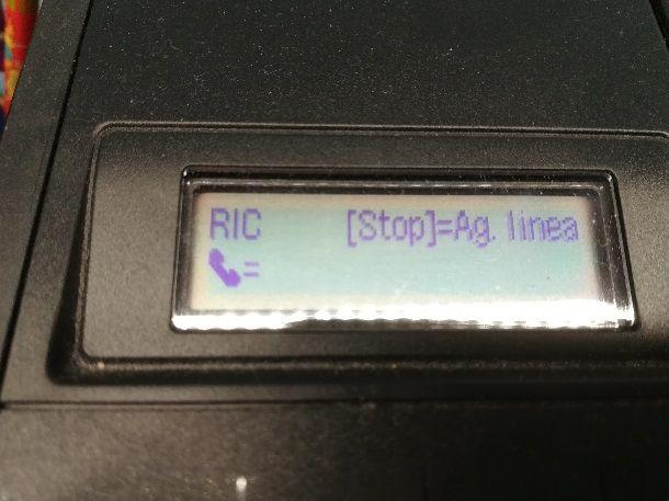 Composizione numero trasmissione fax