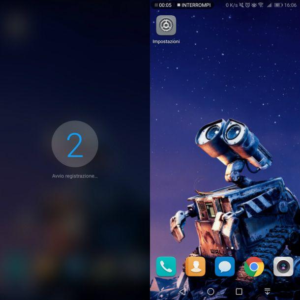 Strumento nativo registrazione schermo Android