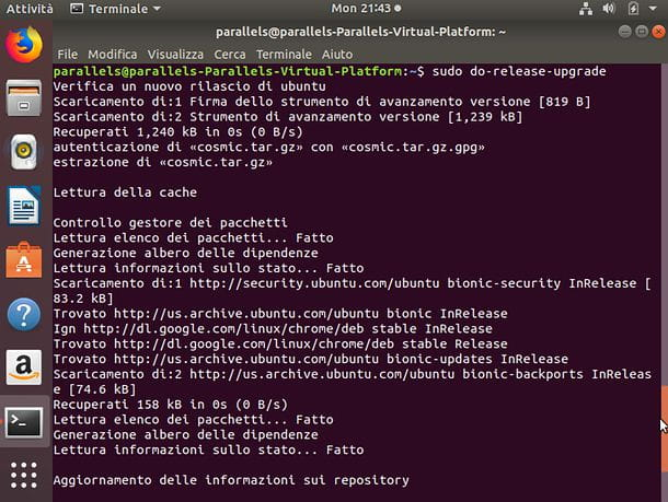 Come aggiornare Ubuntu da Terminale