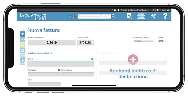 Legalinvoice START mobile