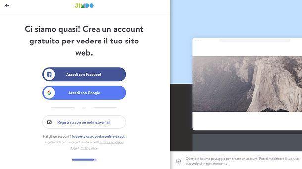 Come creare un sito Web con Jimdo