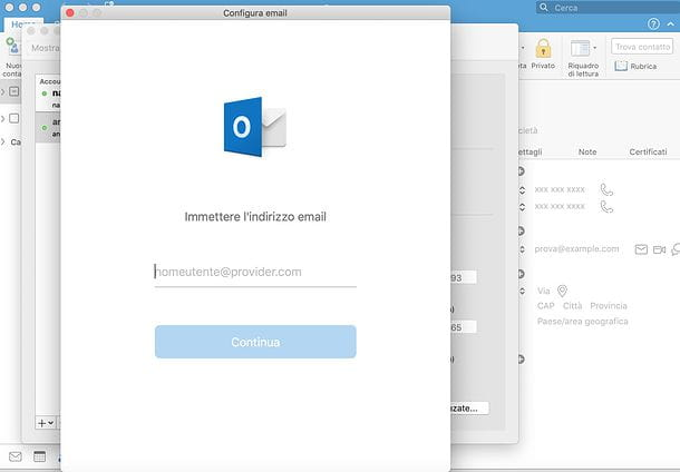 Come sincronizzare contatti Gmail con Outlook Mac