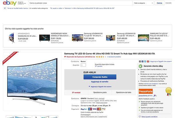 Acquistare su eBay