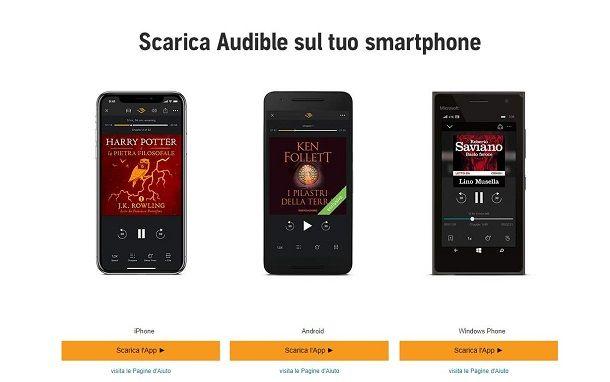 Audible dispositivi compatibili