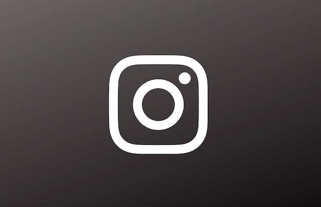 Logo di Instagram in nero e bianco