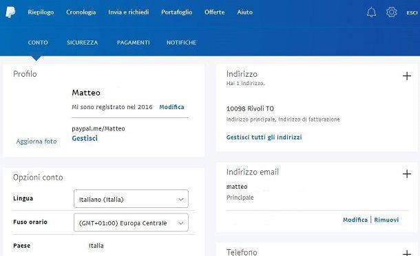 PayPal conto