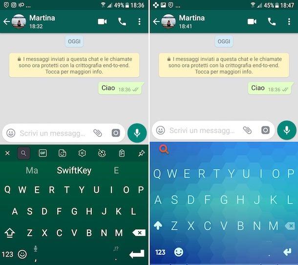 Come cambiare lo sfondo di WhatsApp