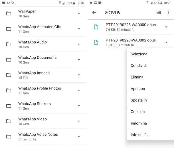 Come salvare gli audio di WhatsApp