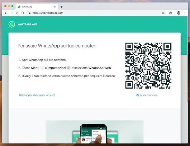 Come trovare il codice QR di WhatsApp
