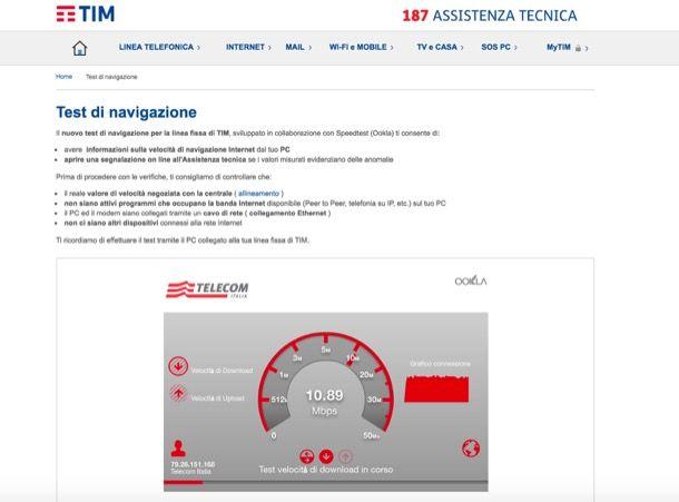 Speed Test Tim Fibra e Adsl: verifica la velocità internet ...
