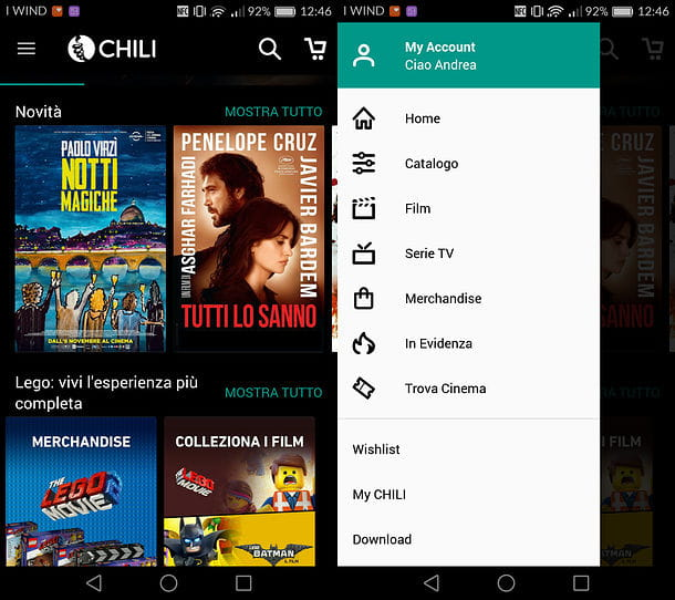 App CHILI per Android