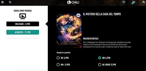 Pagamento su CHILI